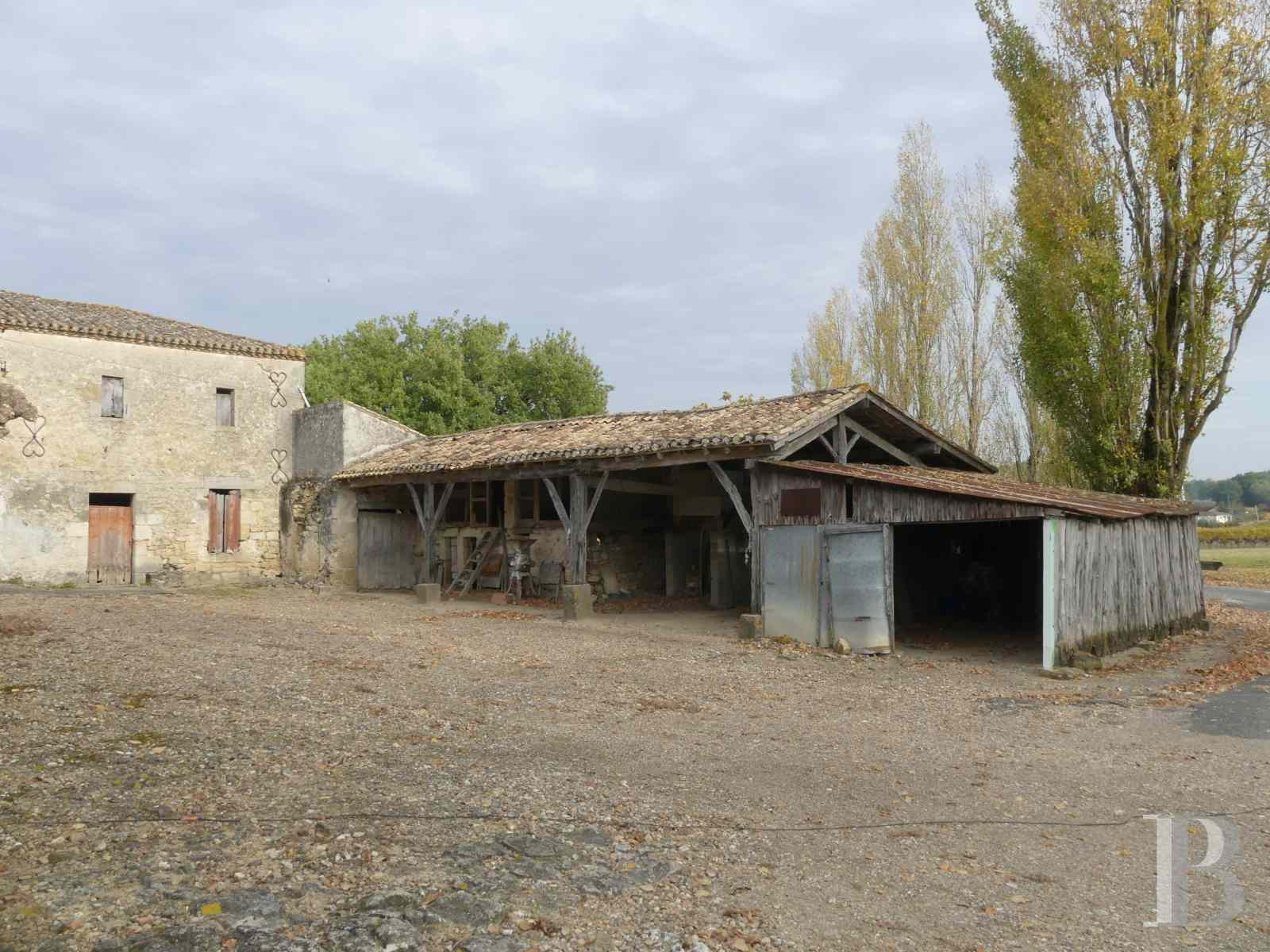 ruins for sale France aquitaine bordeaux vineyard - 11 zoom