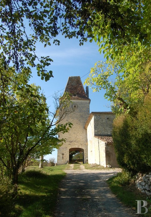 Residences for sale - midi-pyrenees - A listed, 18th century, stately residence and its outbuildings  in over 2.5 ha, dominating a hamlet in the White Quercy region