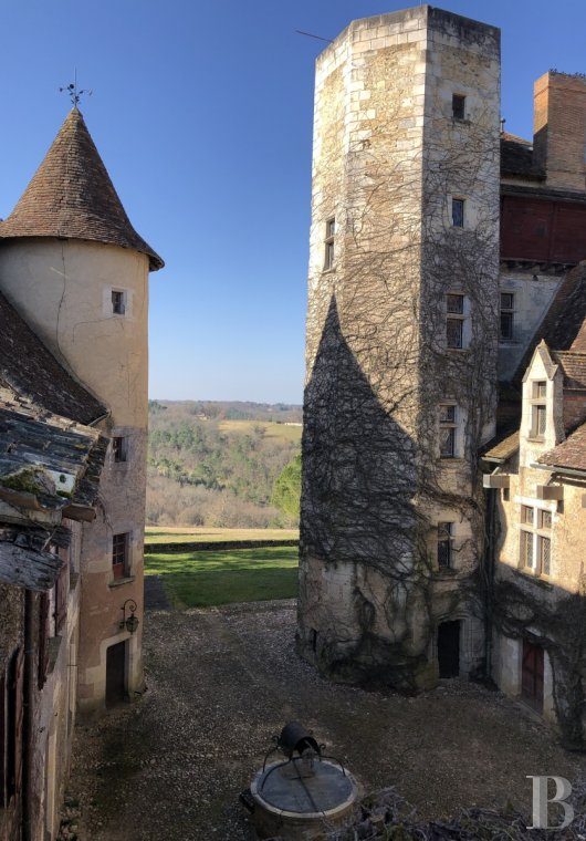 Castles / chateaux for sale - aquitaine - A listed medieval castle, a horse riding centre, 3 farms and a dovecote  with 126 ha of meadows and woods in the midst of the Périgord region