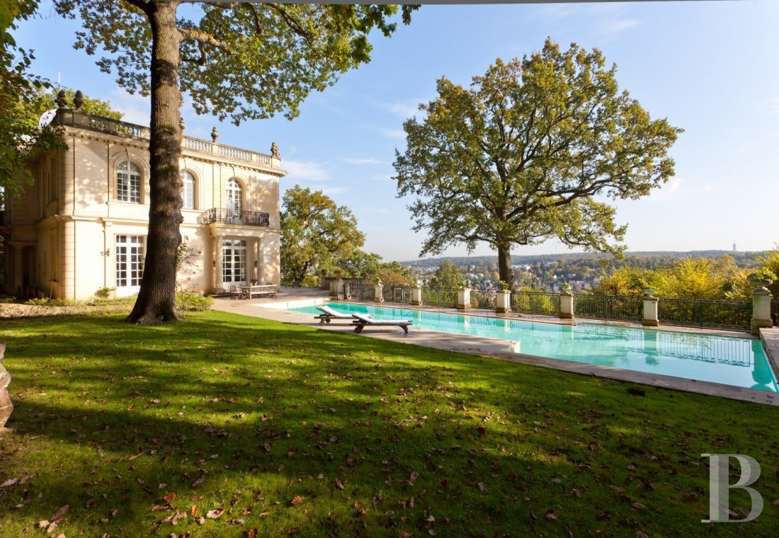 "mansion houses for sale - paris - La Chapelle Du Roy"", an impressive property  dominating the west of Paris from the heights of Ville-d'Avray"