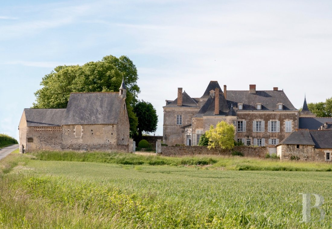 Castles / chateaux for sale - pays-de-loire - An old, 14th century Seigneury, its chapel,  its outer bailey and its gardens in the Anjou region