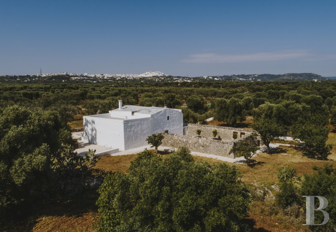 A «masseria» with guest rooms in the middle of an olive grove in Puglia, not far from Ostuni - photo  n°1