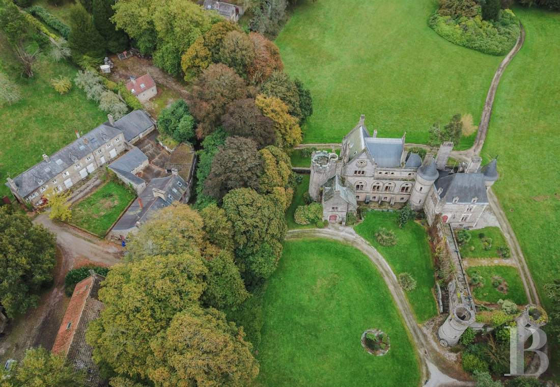 Castles / chateaux for sale - lower-normandy - Fifteen minutes south of Cherbourg, an IMH listed castle, stud farm and nineteen houses on a 140 ha estate