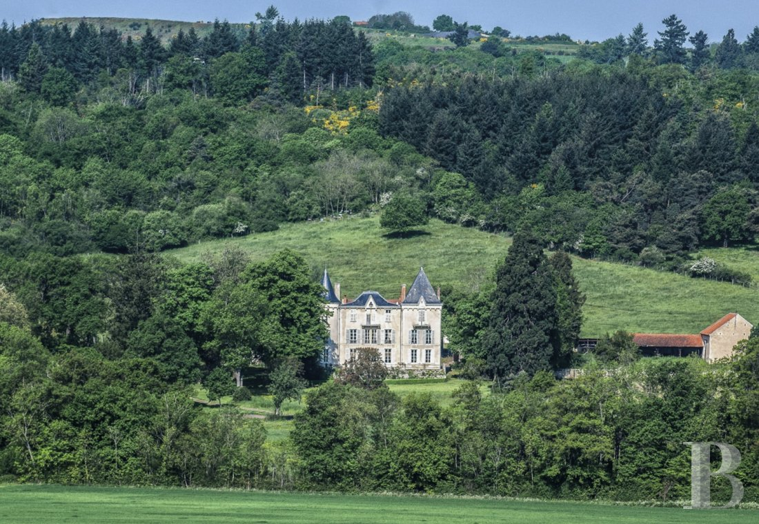 Castles / chateaux for sale - auvergne - A 19th century chateau in a verdant setting near to Vichy, in the north of the French department of Puy-de-Dôme