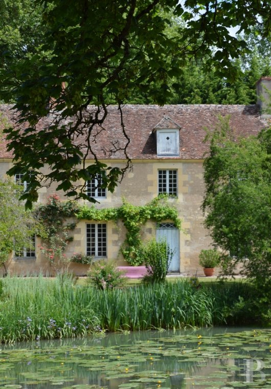 Historic buildings for sale - burgundy - Direct motorway access to a 20 ha estate, with a 5 ha outstanding garden,  a group of listed buildings and the possibility of ecologically generating hydro-electrical power