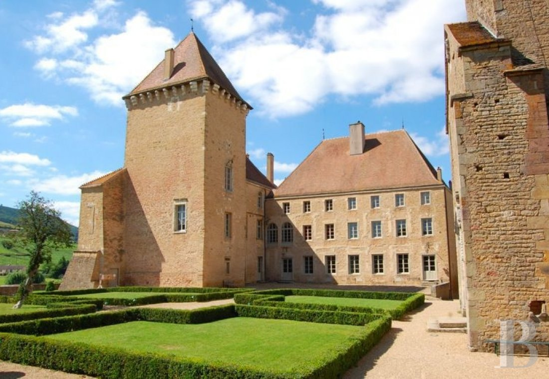fAn ancient 'château-fort' reigning over gardens and vineyards in Burgundy, not far from Mâcon - photo  n°7