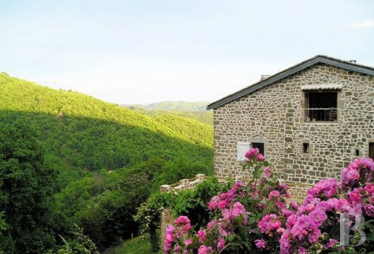 fAn old fortified farmhouse surrounded by nature in the Ardèche mountains natural park  - photo N°3