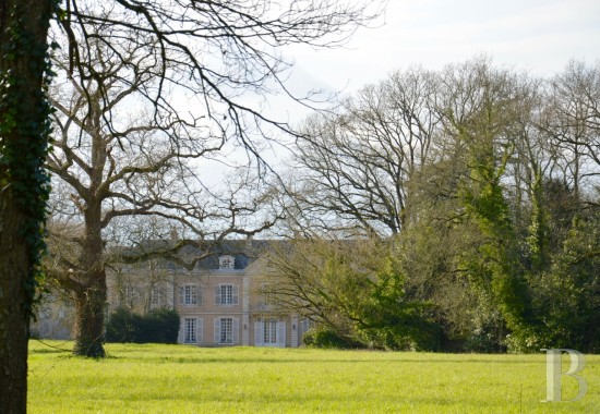 Castles / chateaux for sale - pays-de-loire - A listed, 18th century chateau and its outbuildings  in more than 22 ha near to Angers on the banks of the Loire