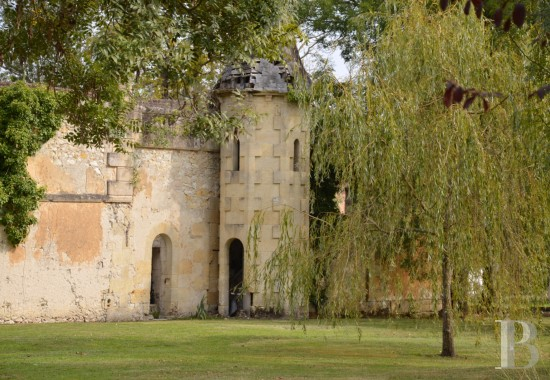 Castles / chateaux for sale - aquitaine - A traditional, 18th century Chartreuse house and its romantic ruins  in 2 hectares of parklands 40 km north of Bordeaux