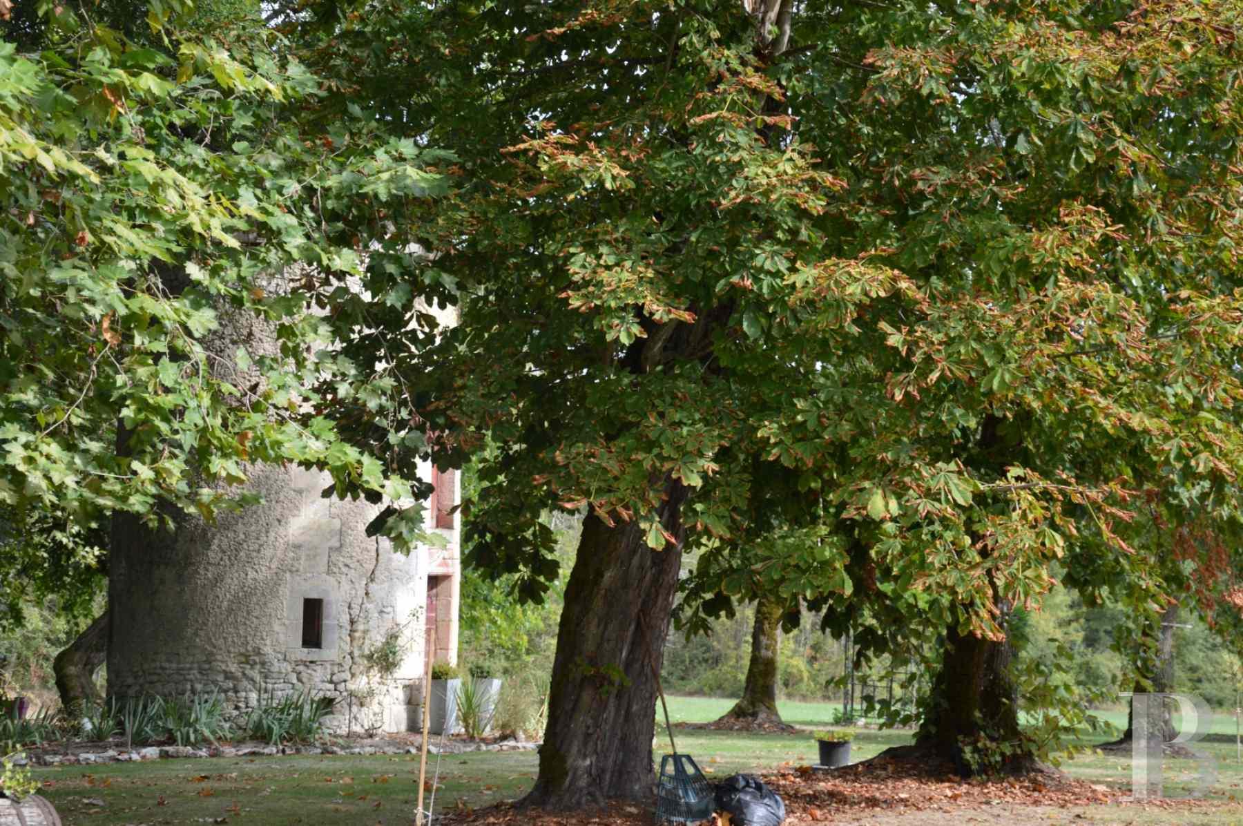 a 40 km au nord de bordeaux une chartreuse du 18e si cle et ses ruines romantiques dans un parc. Black Bedroom Furniture Sets. Home Design Ideas