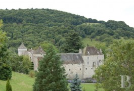 Hunting grounds for sale - auvergne - In the French department of Cantal, Former, listed stronghold in an enclosed 333 acre estate