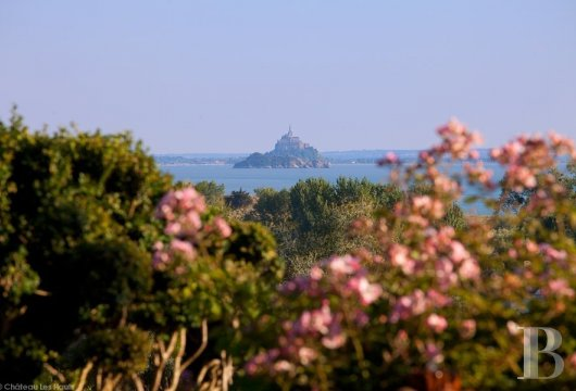 fA small chateau surrounded by sunkissed exotic gardens,  across the way from the Mont-Saint-Michel - photo N°3