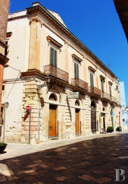 A stately, 18th century palace overlooking the square in an old town <br/>just a few kilometres from the white Porto-Cesareo and Sant-Isidoro beaches