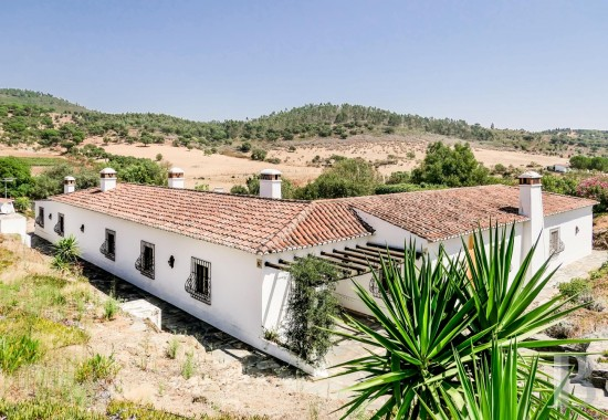 An opulent, rural residence in 15 hectares, planted with olive and cork oak trees, <br/>between the Serra-de-Ossa's verdant wooded slopes and the Alentejo region's ochre plains, between Évora and Villa-Viçosa