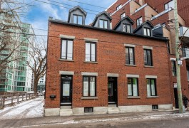 A bright, 2-storey flat  in Montreal's booming district of Griffintown