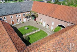 An 18th century farm, laid out in a square, in the Hesbaye-Liégeoise region