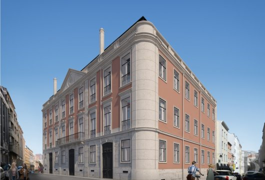 A 151 m² flat, with a balcony, soon to become available  in a palace in Lisbon's Príncipe-Real district