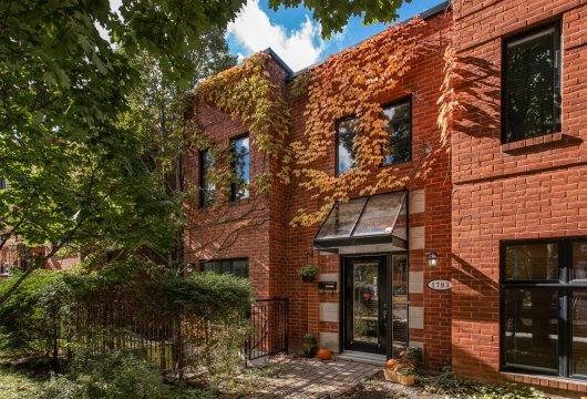 A 230 m² house in the Outremont district  near to Montreal's Jacques-Tessier Park