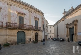 An old palace facing the ancient cathedral  in Nardo near to the town's Baroque square