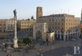 A penthouse set between the sky and Roman ruins in Lecce with its wealth of Baroque architecture
