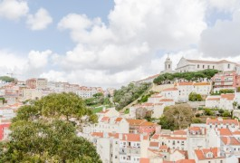 "A building and its nine renovated flats on ""Castle"" hill, with a view over the whole of Lisbon"